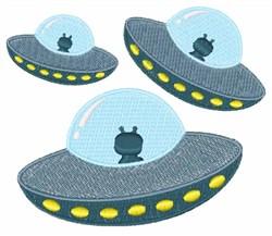 UFO Spacecrafts embroidery design