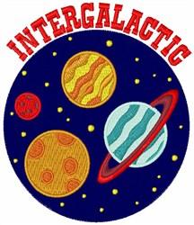 Intergalactic embroidery design