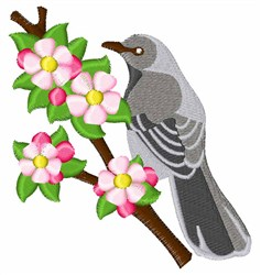 Apple Blossom Bird embroidery design