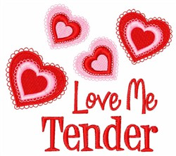 Love Me Tender embroidery design