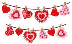 Doily Hearts embroidery design