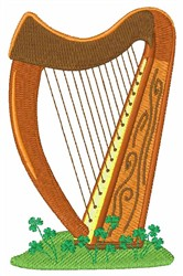 Celtic Harp embroidery design