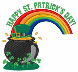 Happy St. Patricks embroidery design