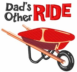 Dads Other Ride embroidery design