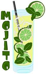 Mojito Glass embroidery design