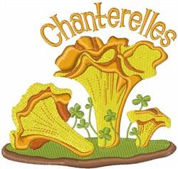Chanterelles embroidery design