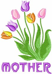 Tulips For Mother embroidery design