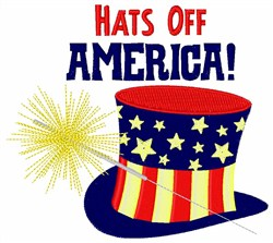Hats Off America! embroidery design