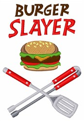 Burger Slayer embroidery design