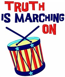 Truth Marching On embroidery design
