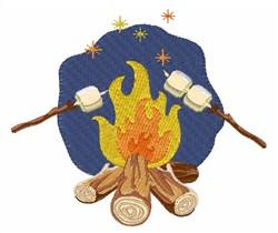 Campfire Marshmallows embroidery design