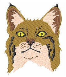 Bobcat Head embroidery design