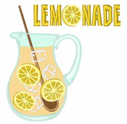Lemonade embroidery design
