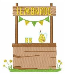 Lemonade Stand embroidery design