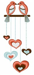 Love Bird Chime embroidery design