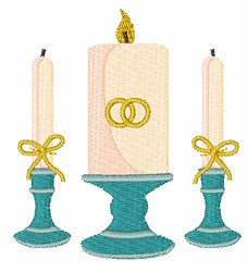 Wedding Candle embroidery design
