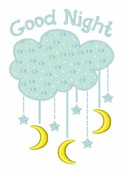 Good Night Mobile embroidery design