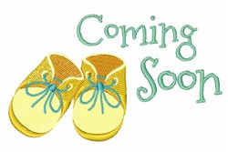 Coming Soon embroidery design
