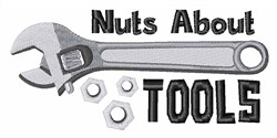 Nuts About Tools embroidery design