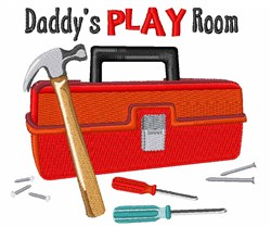 Daddys Play Room embroidery design