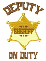 Deputy On Duty embroidery design