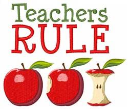 Teacher Rule Apple embroidery design