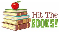 Hit the Books! embroidery design