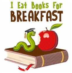 Books for Breakfast embroidery design