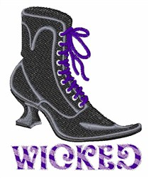 Wicked embroidery design