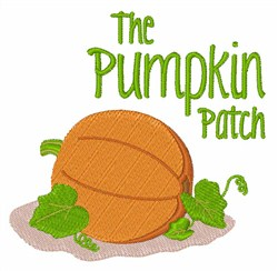The Pumpkin Patch embroidery design