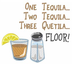 One Tequila embroidery design