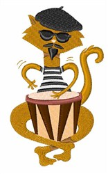 Jazz Cat embroidery design