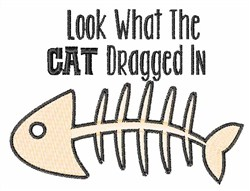 Cat Dragged In embroidery design