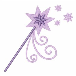 Princess Wand embroidery design
