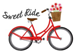 Sweet Ride embroidery design