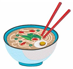 Pho Chinese Food embroidery design