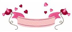 Valentine Banner embroidery design