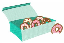 Donut Box embroidery design