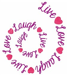 Live Love Laugh embroidery design