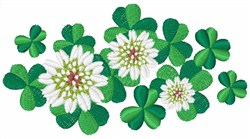 Clover Flowers embroidery design