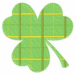 Plaid Clover embroidery design