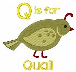 Q For Quail embroidery design