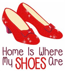Where My Shoes Are embroidery design