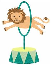Lion Through Hoop embroidery design