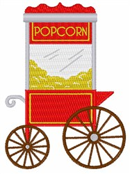 Popcorn Stand embroidery design