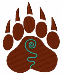 Brown Bear Claw embroidery design