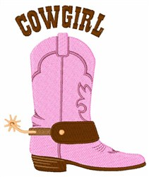 Cowgirl Boot embroidery design