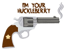 Im Your Huckleberry embroidery design