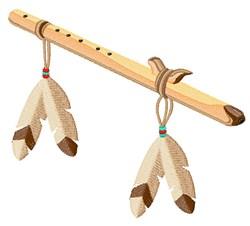 Native American Flute embroidery design