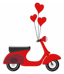 Italian Scooter embroidery design
